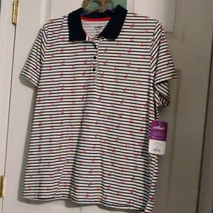 Chic Polo Style Shirt